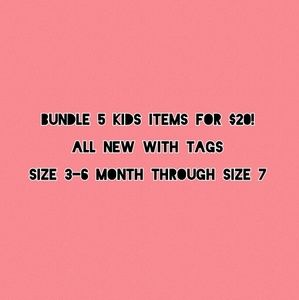 Bundle 5 kids items for $20